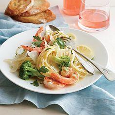 Shrimp and Broccoli Scampi Recipe | CookingLight.com #myplate #protein, #veggie