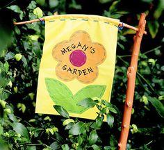 Kids' Garden Banner http://www.bhg.com/crafts/kids/o...