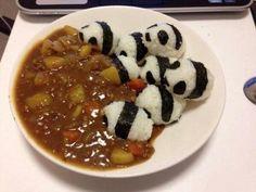Pandas that love curry.
