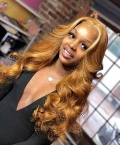 Shop our online store for Brown hair wigs for women.Brown Wig Lace Frontal Hair Brown And Brown Lace Front Wigs From Our Wigs Shops,Buy The Wig Now With Big Discount. Frontal Hairstyles, Baddie Hairstyles, Blonde Weave Hairstyles, Teenage Hairstyles, Honey Blonde Hair, Blonde Wig, Birthday Hairstyles, Curly Hair Styles, Natural Hair Styles