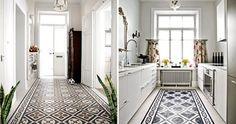 Decoración de suelos con mosaicos hidráulicos
