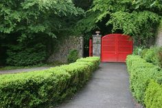 Red gate in Coole Park