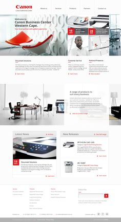 Canon Business Center website concept design by Yorkhill Creative | #webdesign #web #design #layout #userinterface #website #capetown