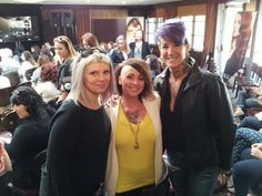 Designer Lauren Lea, Manager Abby Monteith and Master Stylist kickin' at TIGI event. www.onesalonlife.com