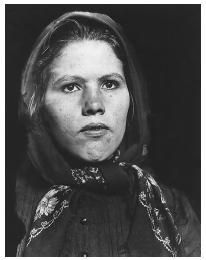 This Slovak woman's photograph was taken shortly after her arrival at Ellis Island- Slovakia history & immigration