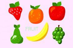 Fruit Clipart Apple Clip Art Grapes Clipart Banana Clipart