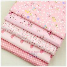 15721167, O envio gratuito de 50 cm * 50 cm 5 color mix flores série tecido de algodão, Diy handmade patchwork pano de algodão, Têxtil de casa(China (Mainland))