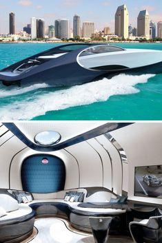 Bugatti's Chiron Inspired Yacht #yachtluxury