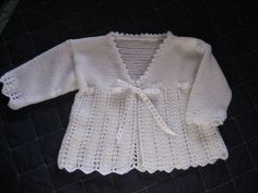 Ravelry: Matinee Coat pattern by Debbie Bliss Knitting For Kids, Baby Knitting Patterns, Baby Patterns, Crochet Baby Sweaters, Knit Crochet, Knitted Baby, Sweater Set, Coat Patterns, Beautiful Crochet