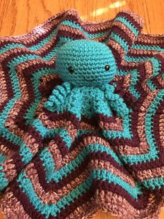 Crochet octopus lovey