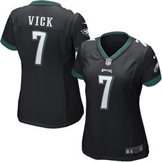 Nike Eagles  7 Michael Vick Black Alternate Womens NFL Game Jersey And   Broncos Emmanuel 6f7a4710c