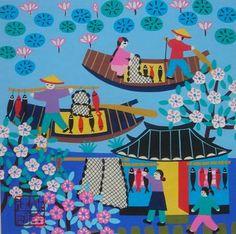 邱建国(農民画家) |金山農民画 中国の農民画紹介サイト