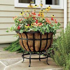 Plow & Hearth Round Coco Basket Planter