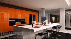 Interior design of a kitchen (Loft house project)