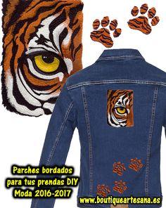 Apliques, parches bordados moda DIY ropa vaquera. Alta costura en tus prendas personalizadas.
