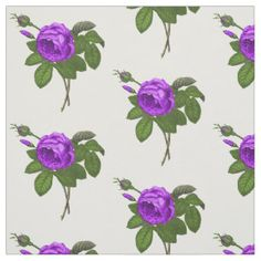 Purple cabbage rose wallpaper