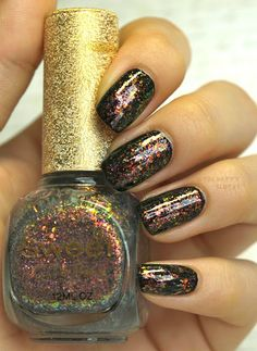 Born Pretty Store Sweet Color Flakie Nail Polish in