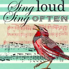 Oopsy Daisy - Sing Loud Sing Often Canvas Wall Art Shelly Kennedy Singing Quotes, Singing Lessons, Singing Tips, Learn Singing, Sara Bareilles, Music Sing, My Music, Music Class, Sing Sing