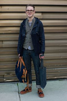 Nice ensemble featuring a little bit of Nigel Cabourn, Mark McNairy and Filson…