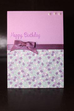 Purple  Handmade  Homemade  Happy Birthday card by PashsCrafts, $4.00