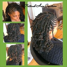 Photo by natural_hair_creations kinky twists cornrows