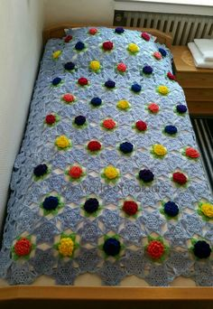 My world of crochet: Seerosenteich-Tagesdecke, Room No# 1