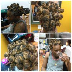 Lock Retwist w/Shampoo and Bantu Nots #cosmetologist #cosmo2k16