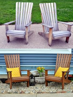 A Nurse And A Nerd: Weather Proofing The Adirondacks (wood Outdoor Chairs)  Chocolate Semi Behr