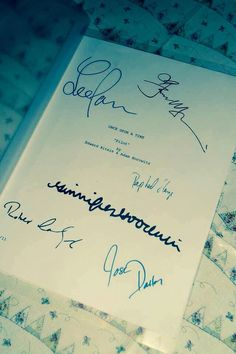 A personal favourite from my Etsy shop https://www.etsy.com/uk/listing/179197324/once-upon-a-time-pilot-script-signed