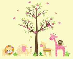 Pretty Animal room decals  # http://decorwalldecals.com/category/animal-wall-stickers