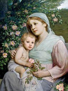 Gabriel Cornelius Ritter von Max - 'Madonna Of The Roses'