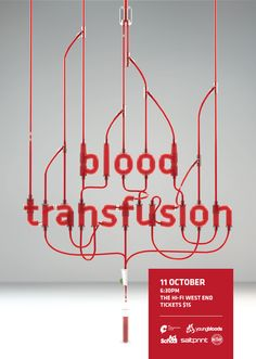I love the simplicity of the design as well as it being basically object type. It is of course altered or the purpose of the advertisement, but it is really effective. Poster design for QLD Young Blood by Peter Bian – Beijing, China Typography Images, Design Typography, Cool Typography, Typography Inspiration, Typography Letters, Graphic Design Inspiration, Lettering, Type Design, Print Design