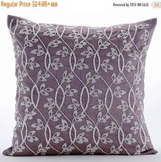 15% HOLIDAY SALE Luxury Purple Throw Pillow by TheHomeCentric