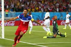 Clint Dempsey of the United States against Ghana in the 2014 World Cup