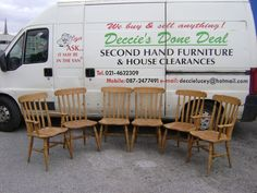 Deccies Done Deal Second Hand Furniture & House Clearances : New Stock Update April Rocking chair, 6 Pine Kitchen Chairs, Hall Table, Round/Oval Kitchen Table Oval Kitchen Table, Pine Kitchen, Kitchen Chairs, New Kitchen Designs, Kitchen Images, House Clearance, Van Home, Second Hand Furniture, Drop Leaf Table