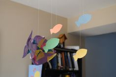 Ocean Art: Fishies and Tissue Paper Scales!