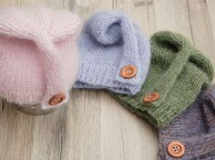 Babymütze selbst stricken, DIY, Wolle / sewing baby hat yourself,  DIY by Finna via DaWanda.com
