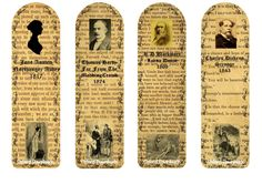Classic Books Author Bookmarks Printable by OxfordDownloads