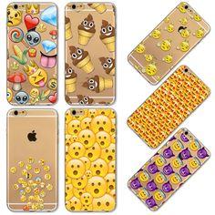 2016 engraçado telefone para Apple iPhone 4 4S 5 5S SE 6 6 s 6 Plus 6 sPlus Emoji macaco capa de silicone transparente saco do telefone móvel
