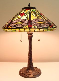 Shop Fine Art Lighting Ltd. Tiffany Dragonfly Table Lamp at Lowe's Canada. Find our selection of table lamps at the lowest price guaranteed with price match. Brown Table Lamps, Table Lamp Sets, Fine Art Lighting, Stained Glass Lamps, Outdoor Wall Lantern, Tiffany Lamps, Modern Rustic Interiors, Drum Shade, Lamp Bases