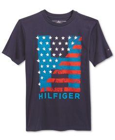 Tommy Hilfiger Graphic-Print T-Shirt, Big Boys Tommy Hilfiger Outfit, Design Kaos, My T Shirt, Big Boys, Graphic Prints, Print Design, Printer, Shirt Designs, Mens Fashion