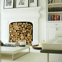 30 Best Stacked Wood Images In 2018 Fire Places Fireplace Design