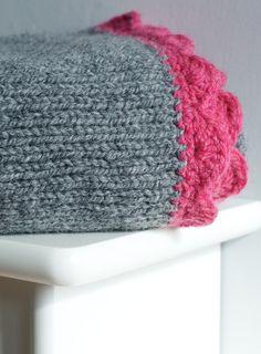 Coperta di lana lavorata a maglia lana grigio di rhubarbandcrumble