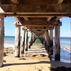 Point Lonsdale's pier. #pointlonsdale #beach #pier #relaxation #sun #weekend #victoria by jscangu http://ift.tt/1EBJopQ