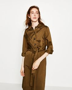 Image 2 of MIDI DRESS WITH FRONT KNOT from Zara