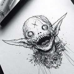 art drawing creepy – art drawing creepy drawing … – Graffiti World Demon Drawings, Creepy Drawings, Dark Art Drawings, Cool Drawings, Pencil Drawings, Satan Drawing, Creepy Sketches, Fantasy Drawings, Halloween Drawings