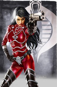 Baroness, GI Joe, girl in red, Comic Book Characters, Comic Character, Comic Books Art, Female Characters, Gi Joe, Marvel Comics, Anime Comics, Dark Comics, Star Wars Personajes