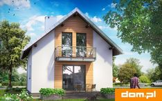 DOM.PL™ - Projekt domu AN KRASNAL CE - DOM AO10-85 - gotowy koszt budowy Compact House, Small House Design, Home Fashion, House Plans, Cabin, Vacation, Mansions, House Styles, Home Decor