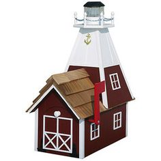 Amish Cedar Roof Lighthouse Mailbox