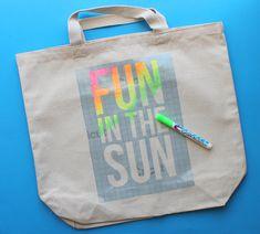 DIY Tote Bag Tutorial: Fun in the Sun - Consumer Crafts